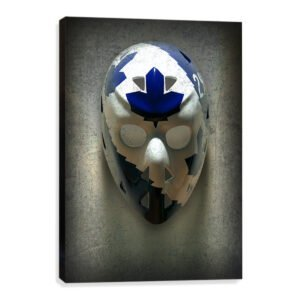 Mike Palmateer goalie mask canvas print wall art