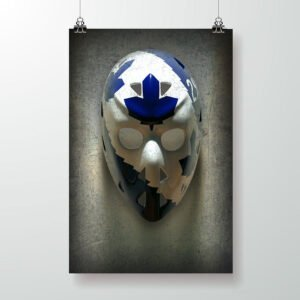 Mike Palmateer goalie mask poster