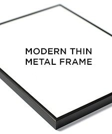 modern thin metal frame