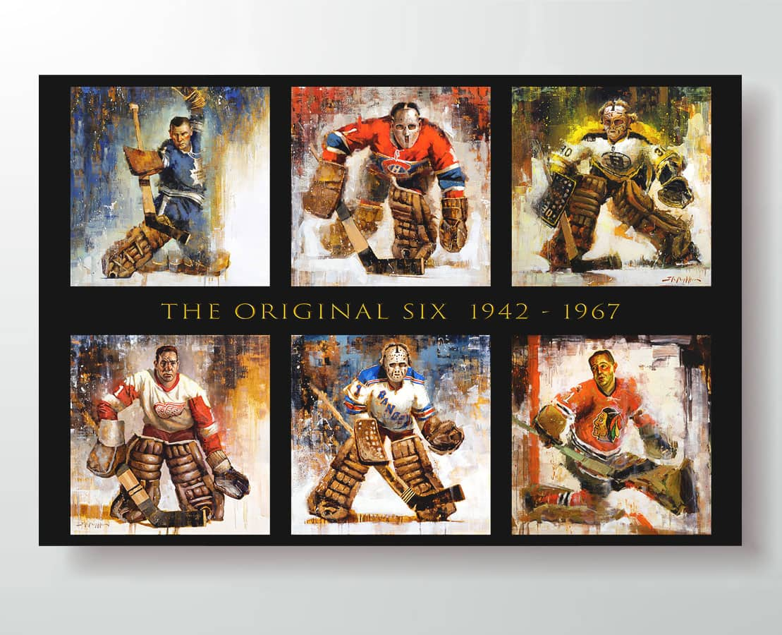 original six hockey poster horizontal