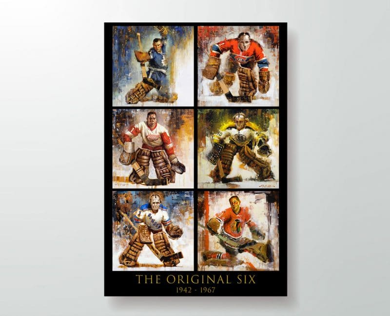 Original Six Hockey Poster Print