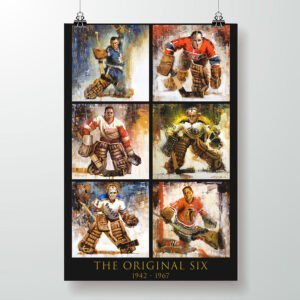 original six hockey poster vertical