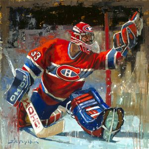 Patrick Roy hockey painting art print