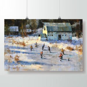pond hockey poster