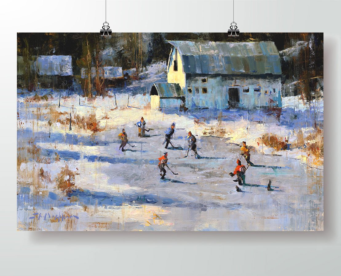 Pond Hockey Poster Print