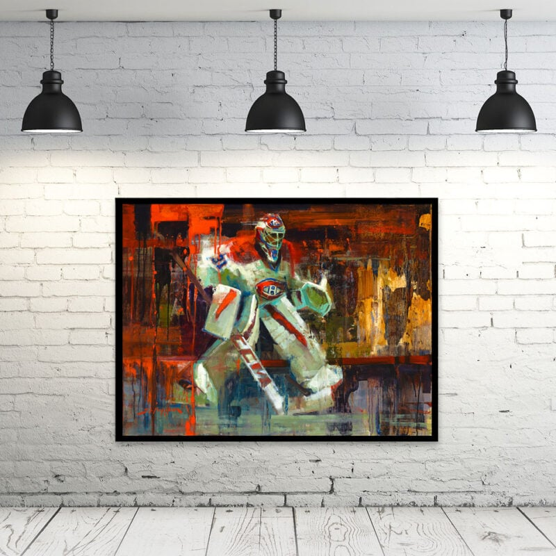 Carey Price art print montreal canadiens gift