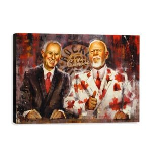 Ron MacLean and Don Cherry art print