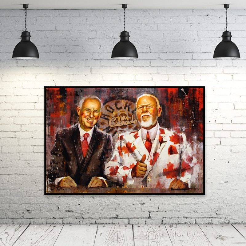Ron MacLean and Don Cherry hockey print