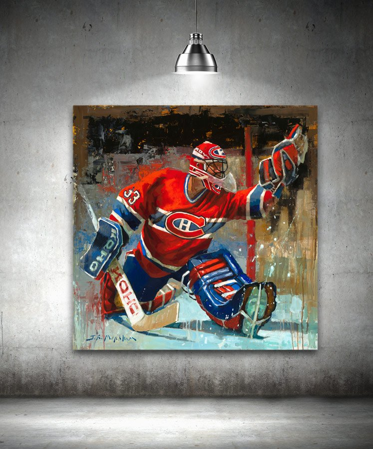 Patrick Roy painting