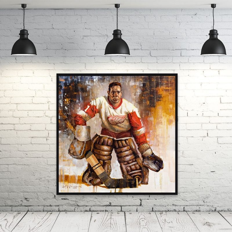Terry Sawchuk Detroit Red Wings art print