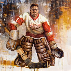 Terry Sawchuk Detroit Red Wings hockey wall art