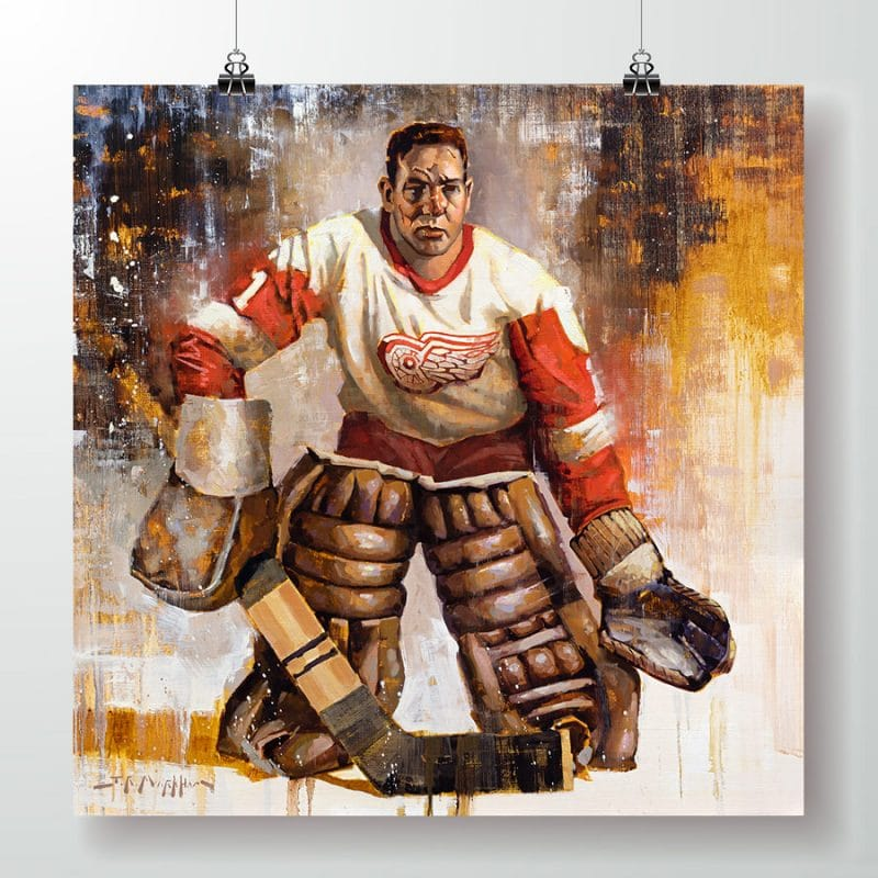 Terry Sawchuk Detroit Red Wings poster