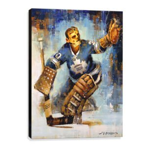 Terry Sawchuk art print toronto maple leafs gift