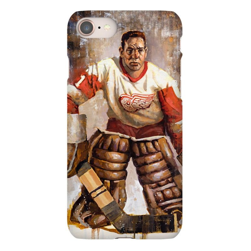 terry sawchuk detroit red wings phone case detroit red wings gift