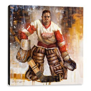 terry sawchuk art print detroit red wings