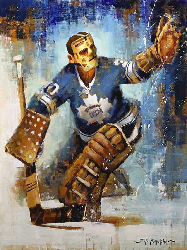 Terry Sawchuk painting hockey art print