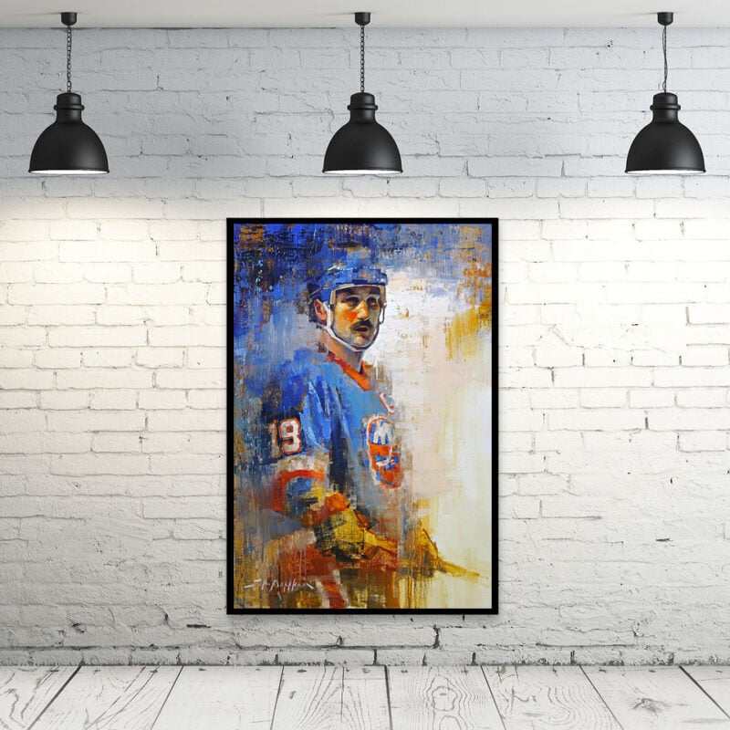 Bryan Trottier new york islanders wall art canvas print